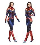 TOYSSKYR Capitán Marvel Cosplay Disfraz Medias corporales para adultos Accesorios de...