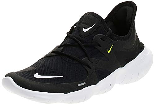 Nike Free RN 5.0 Women's Running Shoe Black/White-Anthracite-Volt 9.0