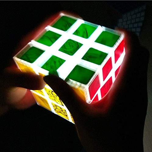 Gift lamp elektronische LED-display kubus puzzel kubus kubus speed twist derde orde gepersonaliseerde speelgoed, lichtgevende kubus