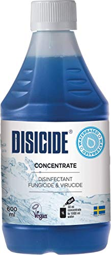 Disicide Concentrate 600 ml Disinfectant Solution for Hairdressing Tools Vegan & Alcohol-Free (Pack of 1)