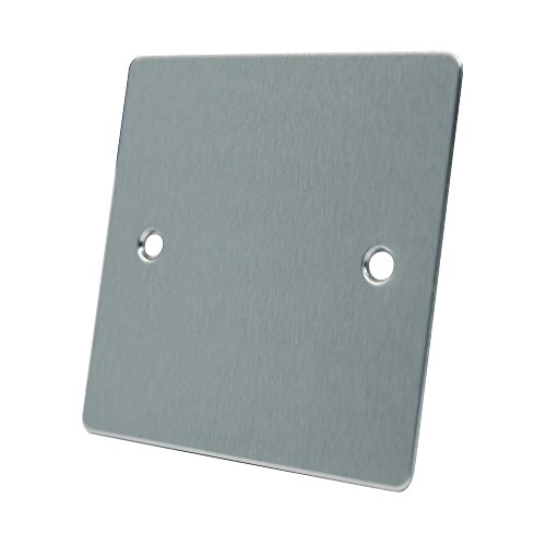AET FSC1GBP Satin Chrome Flat Single Electrical Blanking Plate 1-Gang