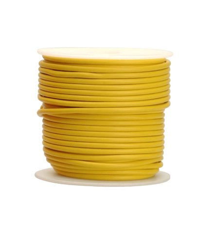 Coleman Cable 18-100-14 Primary Wire, 18-Gauge 100-Feet Bulk Spool, Yellow