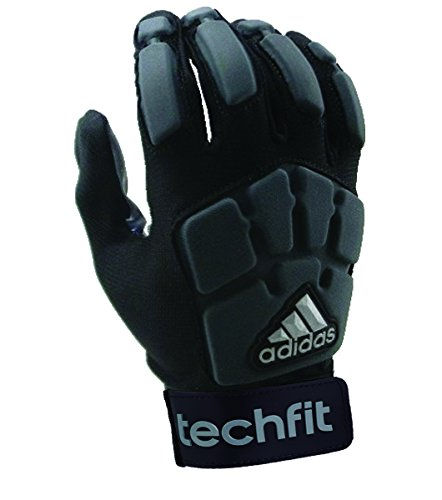 adidas Youth Techfit Lineman Football Gloves, Black/Gray, Medium