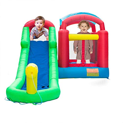 Purchase 224.4 x 139.2 x 98.4″ Inflatable Moonwalk Water Slide Pool Bounce House Jumper Bouncer Castle
