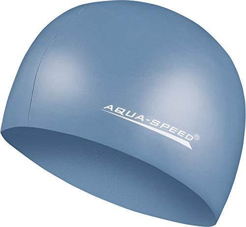 Aqua Speed MEGA Reißfeste Badekappe | Damen Herren I Schwimmmütze für Kinder I Bademütze wasserdicht | Badehaube | Schwimmhaube | Silikonbadekappe I Petrol 22