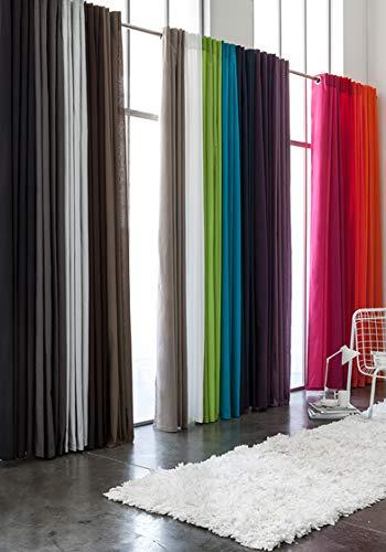 Today 257202 Rideau à pattes Polyester Jus de Myrtille/Fuchsia 140 x 260 cm