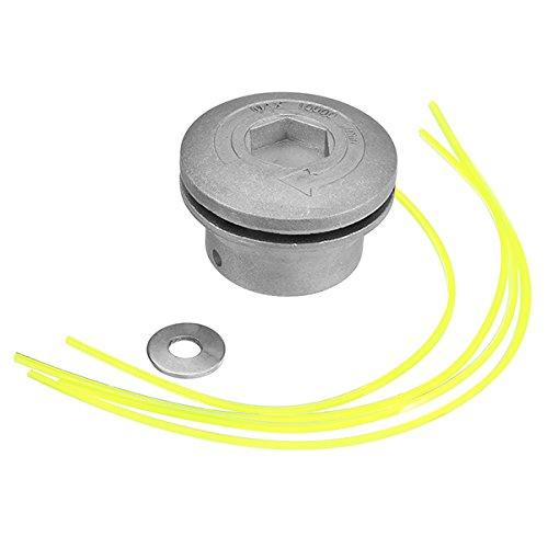 Ils - aluminium gras trimmer kop met 4 nylon lijnen borstelsnijder kop voor trimmer vervanging
