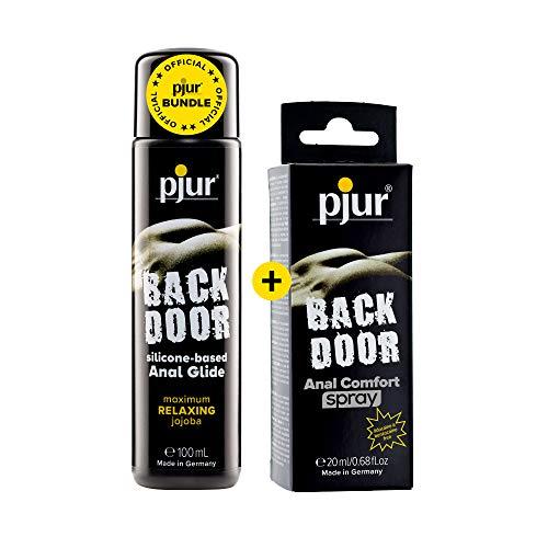 pjur BACK DOOR - Vorteilspack inkl. Analgleitgel auf Silikonbasis (100ml) und Anal Comfort Spray (20ml) - für intensiven Analsex
