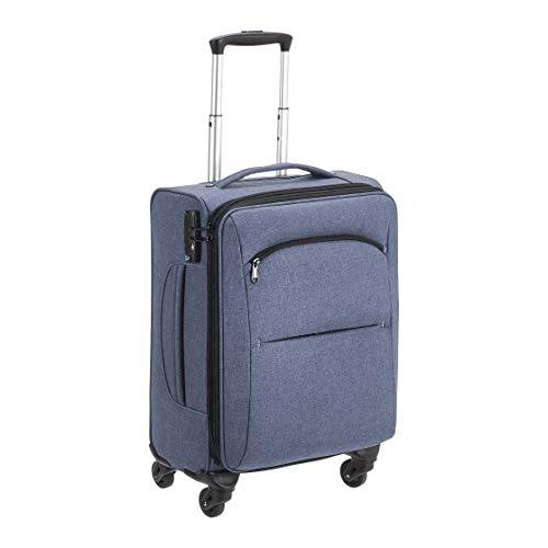 Amazon Basics Urban Carry-On Spinner Suitcase, 50.8 cm, Blue