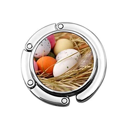 Gancho para Monedero Huevos de Pascua Nido de pájaros Ganchos para Bolsos Plegables Soporte para Colgador de Mesa Plegable Ganchos para Monedero, Monedero
