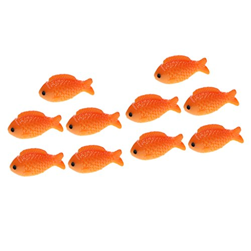 FLAMEER 10pcs Resin Miniature Fish Fairy Garden Figurine Home Decor Gifts L&S
