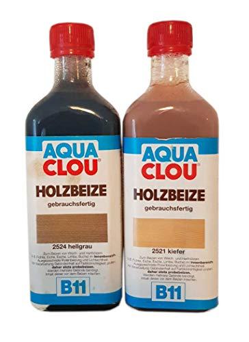 2 x 0,25 ml Aqua CLOU B11 Holzbeize 0,5 ml Farbwahl, Farbe:B11 (2524) Hellgrau