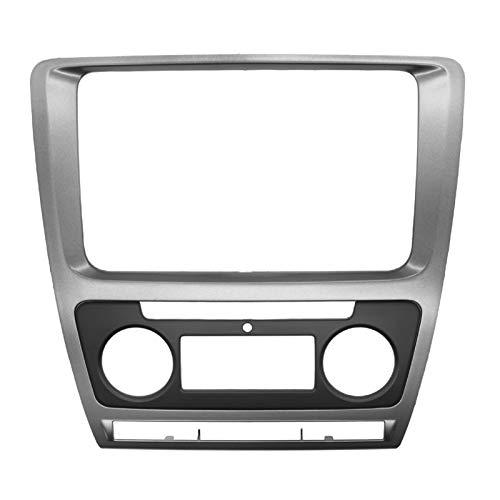 JYXZQZZ Marco de 2 DIN para reparación de DVD para coche Skoda Octavia Dash Mount Kit de embellecimiento, marco de audio, radio estéreo, DVD, panel de CD (nombre del color: Auto AC)