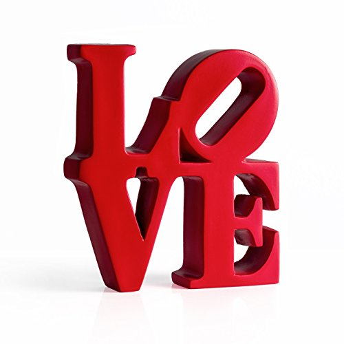 Torre & Tagus 902378 Word Art Red Resin Decor - Love