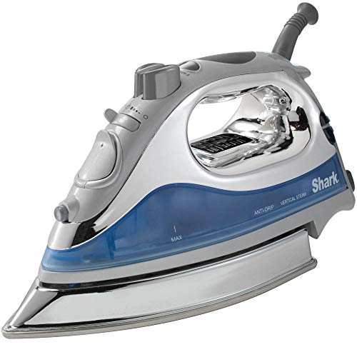 Shark Powerful Lightweight Professional Steam Iron auto-Off with Cord with 8.5in Premium Stainless Steel Sole Plate and 1500 watts, Blue - GI468NN (Renewed)…