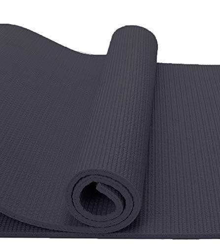 Restar Esterilla Yoga Antideslizante Alfombrilla De Yoga Esterilla Pilates Esterilla Deporte Material De Pvc Reciclable (Negro)