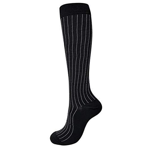 OrderLaiLai (3 paires) chaussettes de compression (rembourrées, compression graduée, ajustement ergonomique pour hommes et femmes) (idéales pour le sport, le travail, le vol) -J_L / XL