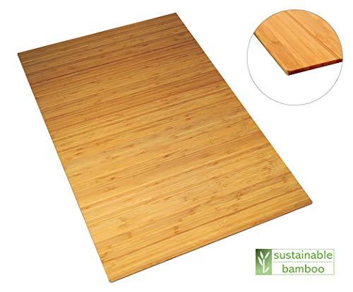 Green'n'Modern rutschfeste robuste Badematte aus Bambus | Bambusmatte als Badteppich im Badezimmer | Holz Duschvorleger hygienisch | Fußbodenauflage