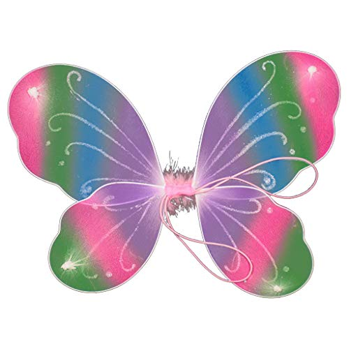 Vivianu 10 Farben Glitzer Regenbogen bunte Schmetterlinge Flügel Kinder Geburtstag Kostüm Feentanz Party Kleid Up Bühne Performance Foto Requisiten 1