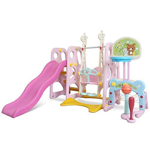 Yangangjin klim- en schommelset voor kinderen, combinatie van glijbaan voor schommel voor speelplaatsen in de open lucht en voor de tuin, glijbaan voor kinderen