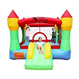 RETRO JUMP Inflatable Bounce House Bouncing Jump Moonwalk Playhouse and Slide with Blower (061 Blower)