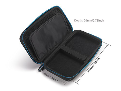 Supremery for Texas Instruments TI-Nspire CX/CAS Graphing Calculator Case Cover EVA Shockproof Travel Storage - Black/Blue Photo #2