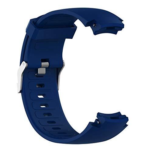 DIPOLA Estuche de Correa de Silicona para Correa de Reloj para Huami Amazfit Verge con Protector de Pantalla—Azul Oscuro