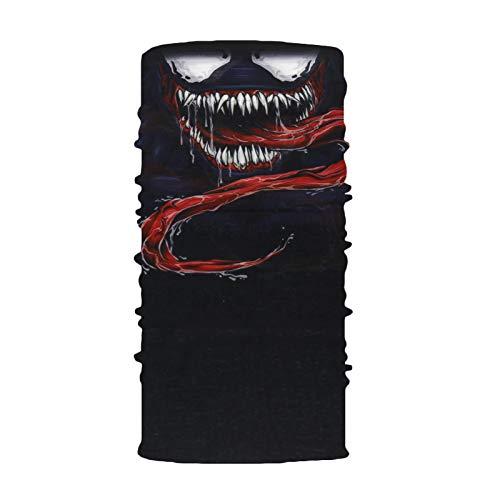 GEORGES Multifunktionstuch Halstuch in vielen verschiedenen Designs vielseitig einsetzbar | Sturmhaube | Schlauchschal | Stirnband | Piratentuch (Venom)