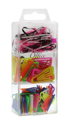 Laurel Trio-Box plastic lips en rubberen band, verschillende kleuren