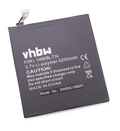 vhbw Batterie Li-Polymer 4200mAh (3.7V) pour Netbook Pad Tab Tablette LG G Pad 8.0, V490. Remplace: BL-T14, EAC62638401.
