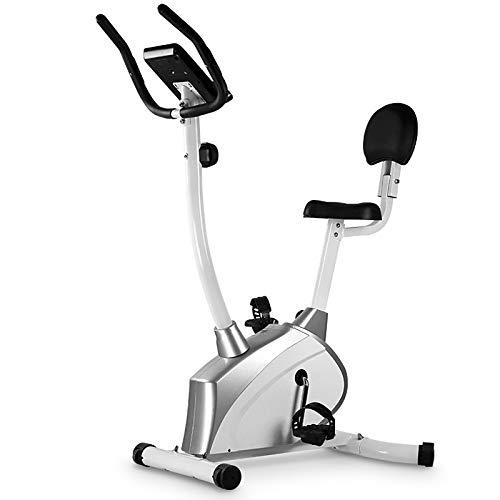 Bicicleta Estática de Fitness, Bicicleta de Ejercicio para el hogar, Altura Ajustable, con Respaldo pantalla LCD, 14 Niveles de Resistencia magnetica, para atletas y mayores
