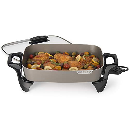 "Presto Electric Skillet, 16"", Grey Ceramic"