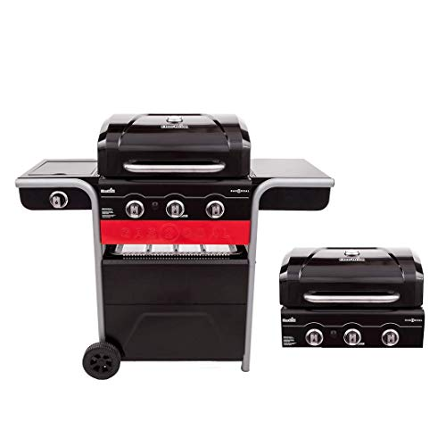 Char-Broil Gas2Coal Hybrid Grill - Barbecue a Gas e Carbonella con 3 fuochi, Nero
