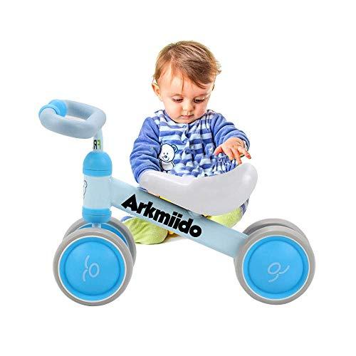 Soul hill Baby-Balancen-Fahrrad, Fahrt auf Fahrräder, Kinderfahrrad, Rutschen Bike 4 Wheel, Trike Kleinkind Walker Farbe Rot 1-3 Jahre alt (blau) zcaqtajro (Color : Blue)