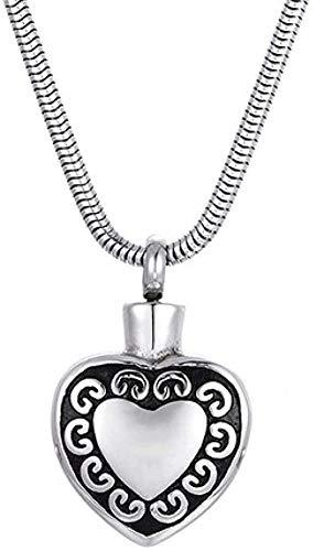 NC134 Collares Sencillos y de Moda para Hombres y Mujeres Collares de Fiesta a Juego Collares con Colgante de Botella de Perfume en Forma de corazón