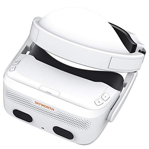 Wufly Tout-en-Un Intelligent Lunettes VR 3D, Le Son Panoramique avec Microphone Intégré, Affichage 3K Et 110 Degrés Lunettes De Réalité Virtuelle, Et Gamepad avec Gamepad