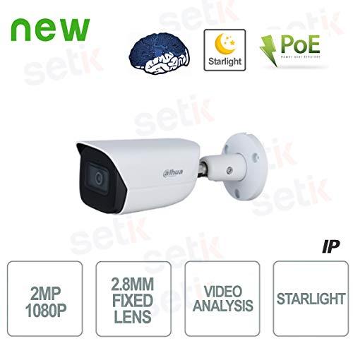 Dahua - Telecamera AI IP ONVIF PoE 2MP 2.8mm Starlight Dahua - IPC-HFW3241E-SA