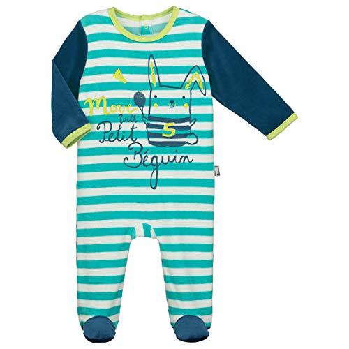 Petit Béguin - Pyjama bébé velours Biscuits - Taille - 6 mois