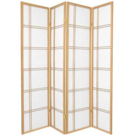Fine Asianliving Japanischer Raumteiler L180xH180cm Paravent Shoji DCN Reispapier Sichtschutz Trennwand Faltbar Raumtrenner Spanische Wand - 112-514