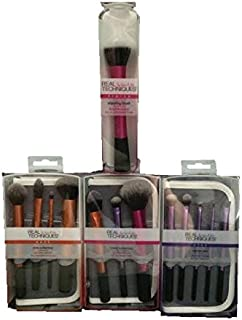Real Techniques Starter, Core & Travel sets each come with a Case and a Stippling Brush-Total 13 Brushes
