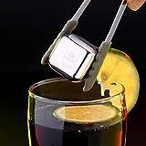 CHERUISI Moldes acero inoxidable Chilling cubos de hielo reutilizables for el whisky, vodka, licores