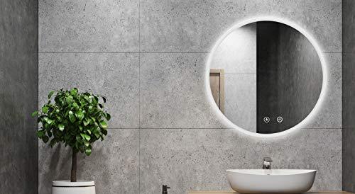 ALLDREI 60 cm ronde badkamerspiegel met verlichting 80 CM MIT Spiegelheizung