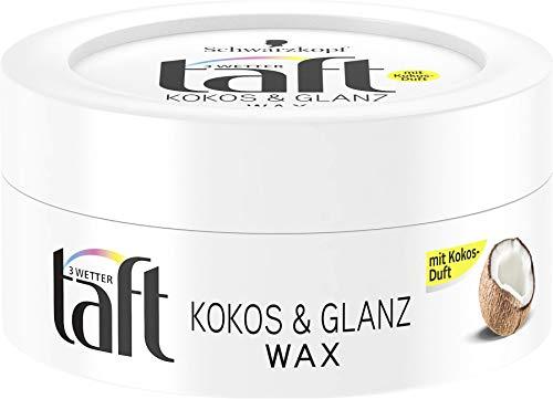 Schwarzkopf 3 Wetter taft Wax Kokos & Glanz, 5er Pack (5 x 75 ml)