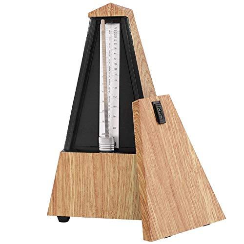 Metrónomo mecánico antiguo estilo instrumento musical para batería de tambor para piano de madera tipo torre(madera poco profunda)