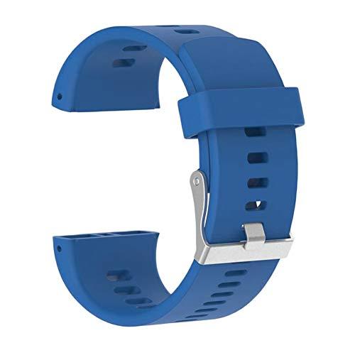 Reemplazo Pulsera Adulto Uso Pulsera Inteligente Decoración Deportes Silicona SmartWatch Fitness Correa para la muñeca para Hombres Mujeres para Polar V800(Azul)
