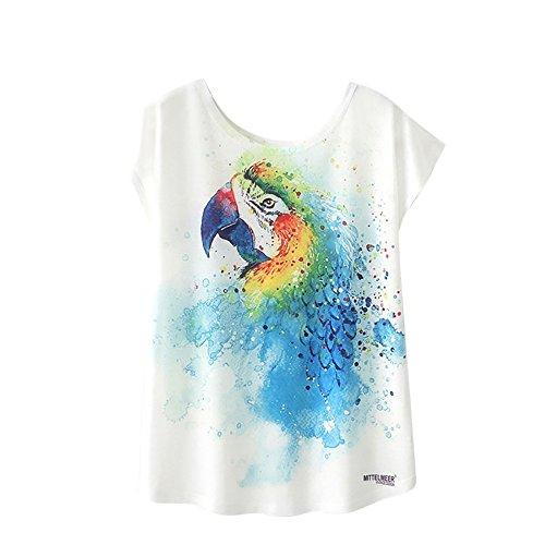 MOMOXI Tops para Mujer, Camiseta de Manga Corta con Estampado de Blusa de Verano para Mujer Camisetas de Manga Corta