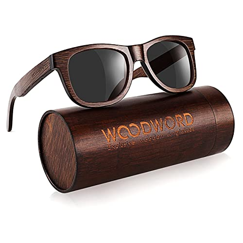 Polarized Wood Sunglasses for Men Women - Bamboo Wood Sunglasses with Wood...
