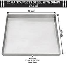 No-Rust Stainless Steel Washing Machine Drip Pan: Avoid Water Damage & Mold – Washing Machine tray with Custom Sizes – Welded Corners Includes Drain Hole & Hose Adapter - 30