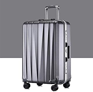 Luggage & Bags 24 inch Suitcase Female Pull-Rod Case Universal Wheel PC Travel Suitcase (Color : Grey)