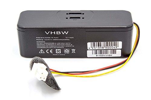vhbw Akku passend für Samsung SR8730, SR8750 Light, SR8824, SR8825, SR8828, SR8830, SR8840, SR8841 Staubsauger ersetzt VCA-RBT20(3.0Ah, 14.4V, Li-Ion)